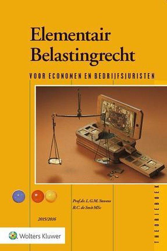 Elementair belastingrecht 2015/2016 theorieboek - L.G.M. Stevens pdf epub