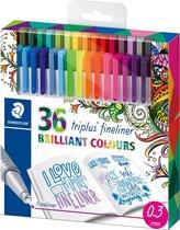 Staedtler Triplus fineliner - etui 36 kleuren - Speciale editie (26 + 10)