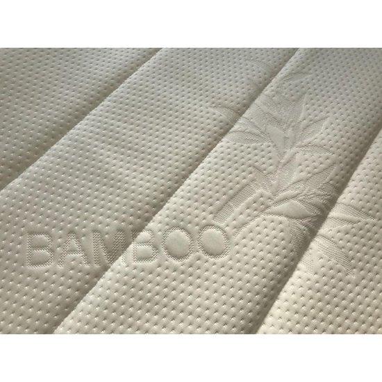 Topdekmatras - Topper 140x200 - Koudschuim HR60 6cm - Soft + Bamboo tijk