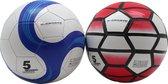 Voetbal kunstleer blauw of rood
