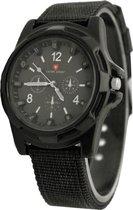 Swiss Army Horloge Zwart | Nylon | Ø 40 mm