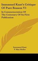 Immanuel Kant's Critique of Pure Reason V1