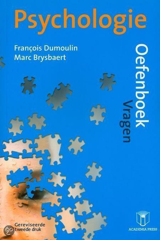 Psychologie oefenboek - Francois Dumoulin  