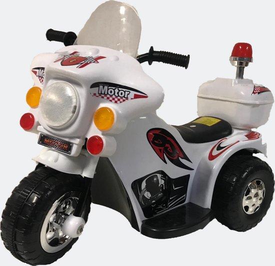 Kinder  politiemotor op accu wit