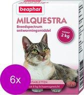 Beaphar Milquestra Kat - Anti wormenmiddel - 6 x 4 tab 2 Tot 12 Kg