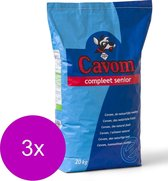 Cavom Compleet Senior - Rund & Vlees - Hondenvoer - 3 x 20 kg