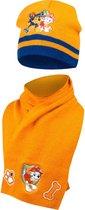 Paw patrol|muts en sjaal set|kleur oranje Mt 48/51|Paw Patrol | Ensemble bonnet et écharpe | couleur orange Taille 48/51
