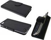 LG 5 Wallet Boek Case Hoesje Zwart