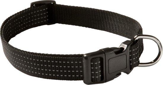 Adori Veiligheidshalsband Reflectie Zwart - Hondenhalsband - 22-38x1.5 cm
