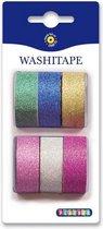 Washi Tape Glitter Plain Kleuren