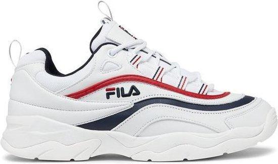 Fila Ray Low Sneakers Heren - White/Fila Navy/Fila Red - Maat 42