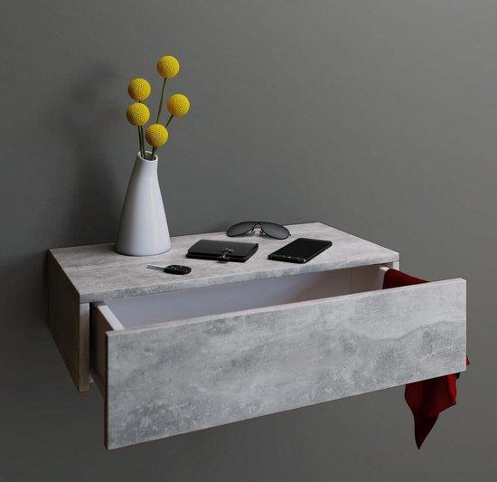 VCM Blado Maxi Nachtkastje - Zwevend - Beton