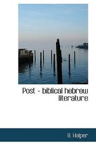 Post - Biblical Hebrew Literature