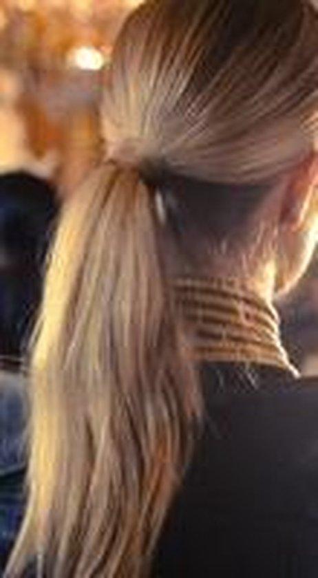 Balmain Catwalk Ponytail 55 cm.  steil, Memory®hair, kleur AMSTERDAM een mix van blonde tinten. - Balmain
