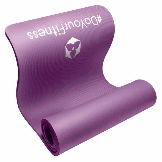 #DoYourFitness dikke fitness mat - »Yamuna« - non-slip, duurzaam, huidvriendelijk, slijtvast - 183 x 61 x 1,5 cm - violett