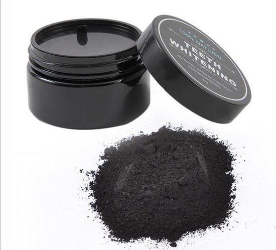 Natural Teeth Whitening - Activated Charcoal 30g.  Tanden bleek Poeder  Stralend witte tanden