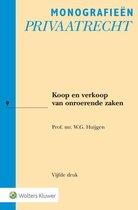 Monografieen Privaatrecht 9 -   Koop en verkoop van onroerende zaken
