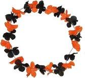 Hawaiikrans zwart met oranje