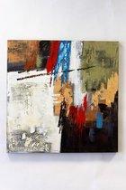 """""""olieverfschilderij op doek 75 bij 75 cm. """"""""kleur vlakken"""""""""""""""