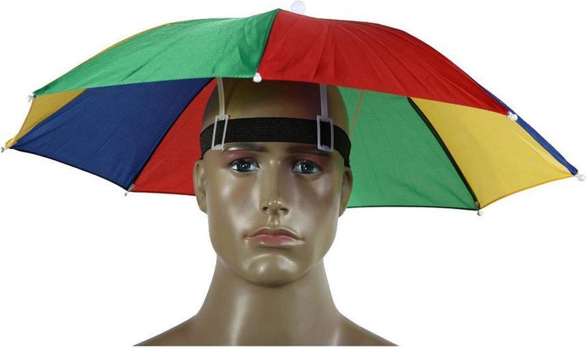 Kleurrijke Hoofdparaplu / Hoofdparasol - Hoofd Paraplu Hoed / Parasol Hoed
