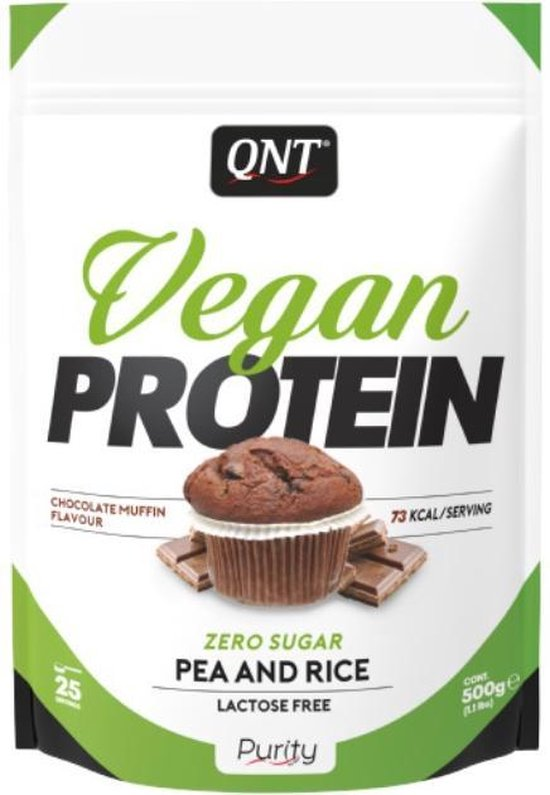 QNT|Light Digest|Eiwitpoeder / Eiwitshake|500g |Vegan protein | choco muffin
