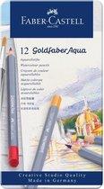 Aquarelkleurpotlood Faber-Castell Goldfaber etui 12 stuks