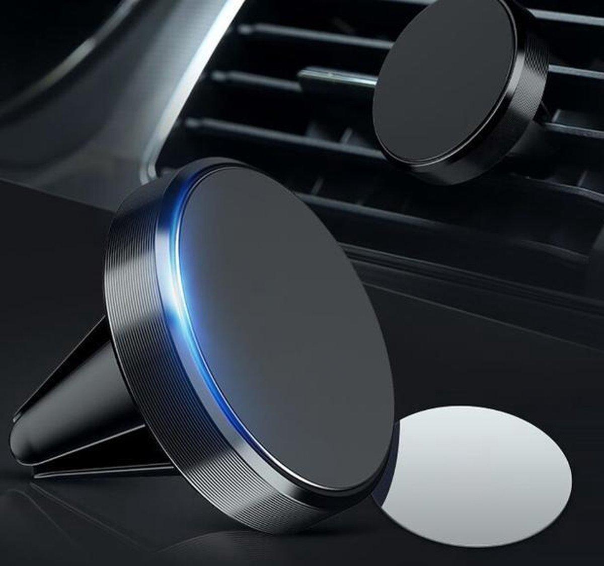 Universele Magneet Telefoon Houder - voor in de auto - Ventilatierooster - Navigatie - Zwart