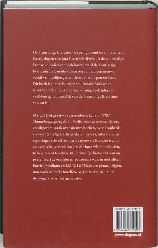 Franstalige literatuur van nu - Margot Dijkgraaf |