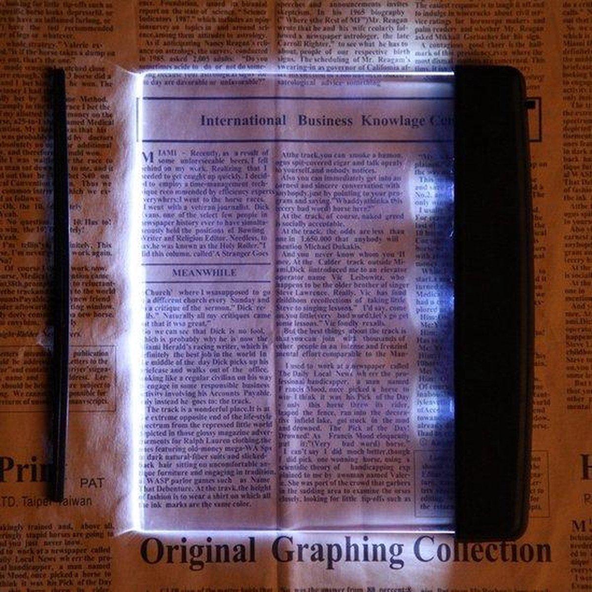 A4 Leeslamp Paneel - Boek Leeslampje / Boeklam - 4x Bed LED Book Light