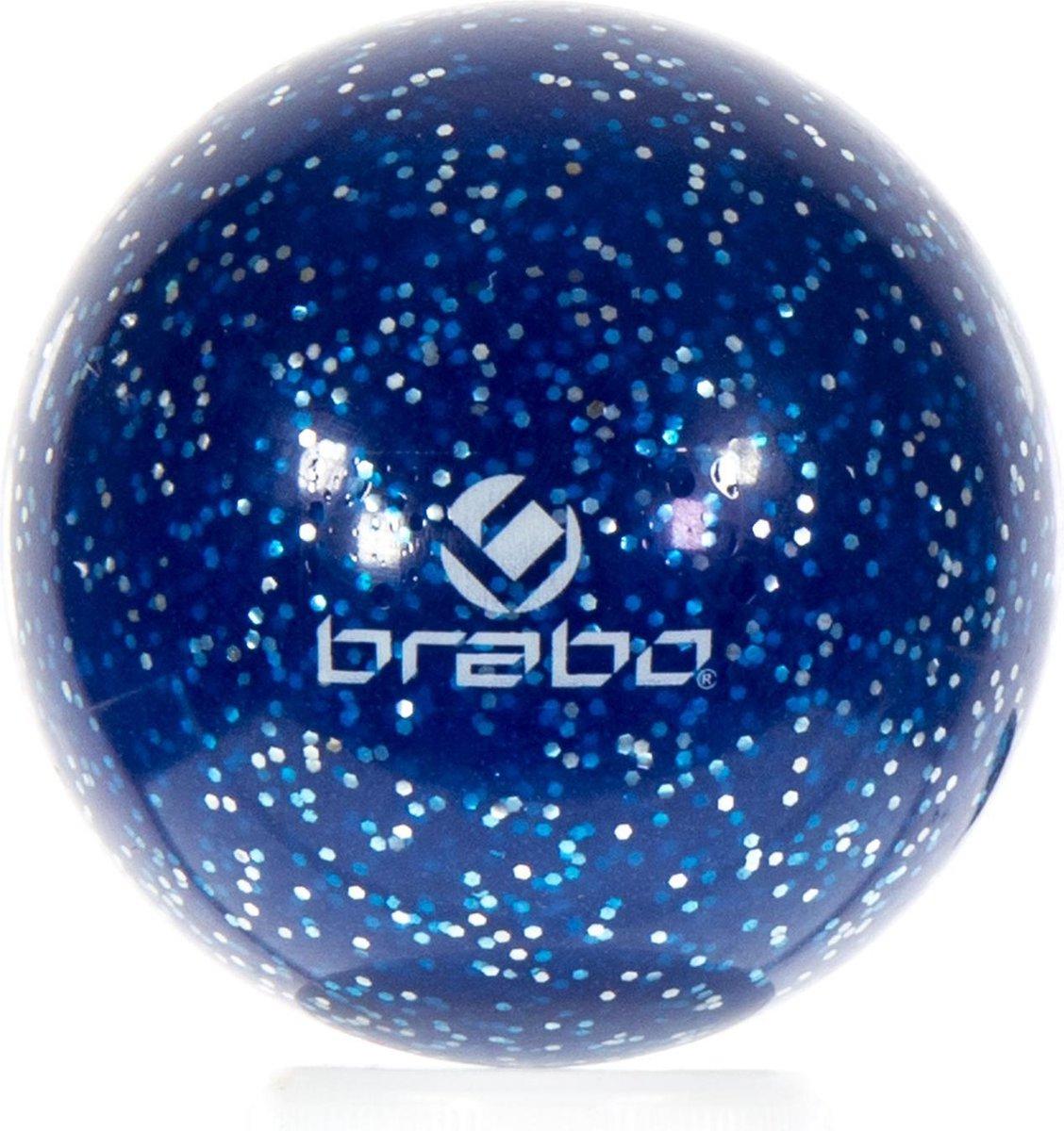 Brabo Smooth Bal Glitter - Hockeybal - Veldhockey - Blauw Glitter