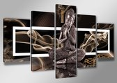 Art4-all Canvas schilderij Buddha - 200x100cm