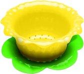 Zak!Designs Kitchen & Garden Vergiet - Narcis - Klein - Incl onderzetter - 15 cm - Geel