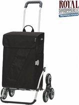 Andersen Boodschappentrolley Treppensteiger Royal Shopper Vika 6 wielen - 46 L inhoud - Zwart