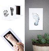 Baby voetafdruk en baby handafdruk inkt - geschenk set(zwart)