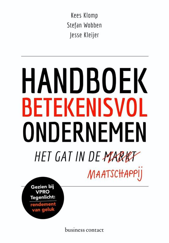 Boek cover Handboek betekenisvol ondernemen van Kees Klomp (Onbekend)