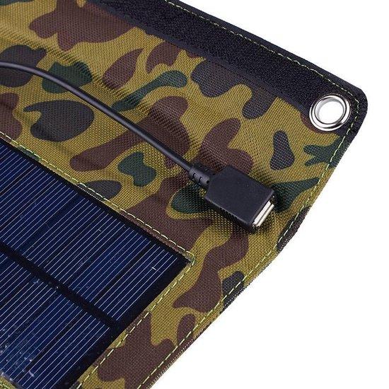 Vouwbaar en draagbaar zonnepaneel voor rugzak - portable solar panel voor backpack - o.a. voor het opladen van smartphone en GPS - DisQounts