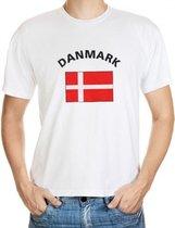 Wit t-shirt Denemarken heren S