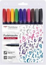 Tombow Fudenosuke - Brush pennen - set van 10