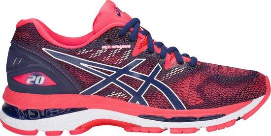 Asics Gel-Nimbus 20 Sportschoenen - Maat 39.5 - Vrouwen - navy/roze