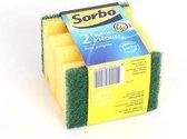 Sorbo Schuursponsen - 9x6,5x4,5cm - 2 stuks - Met handgreep