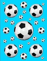 Soccer Notebook Score Keeping Journal Sky Blue 150 College Ruled Pages 8.5 X 11
