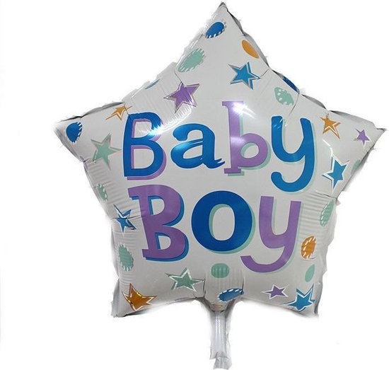 Folieballon Baby boy ster 45cm