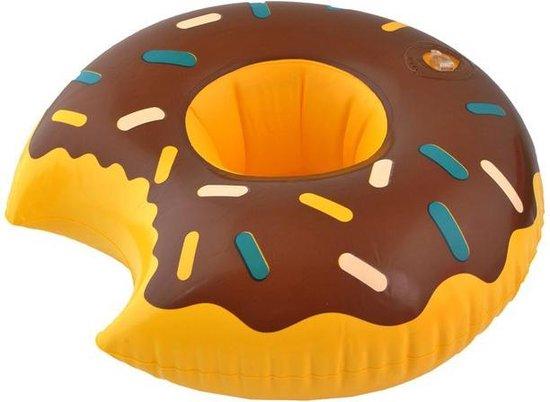 5x Opblaasbare Donut Blikjeshouder - Drankhouder Bekerhouder - Zwembad Drank Houder Blikjes