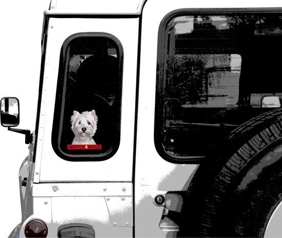 West Highland white terrier sticker (set van 2 stickers)