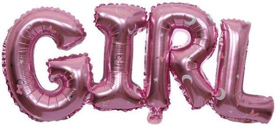 Folieballon Girl ster 91x36 cm