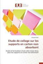 Etude de Collage Sur Les Supports En Carton Non Absorbant