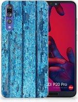 Huawei P20 Pro Uniek TPU Hoesje Wood Blue