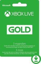 Microsoft Xbox Live Gold - 3 Maanden Abonnement -