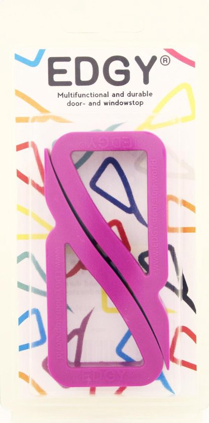 EDGY - deur- en vensterstopper - Paars - Verpakt per 2