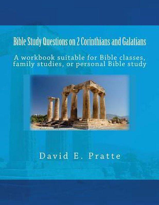 Boek cover Bible Study Questions on 2 Corinthians and Galatians van David E Pratte (Paperback)